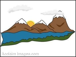 Mountain Stream Clipart - Clipart Kid vector transparent library