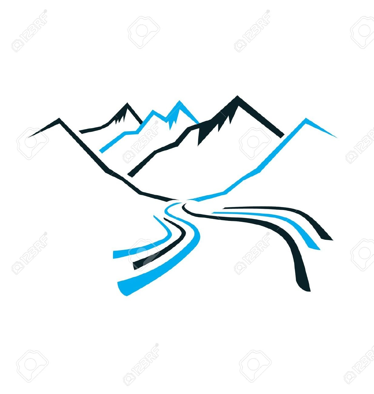 Mountain River Clip Art – Clipart Free Download free library
