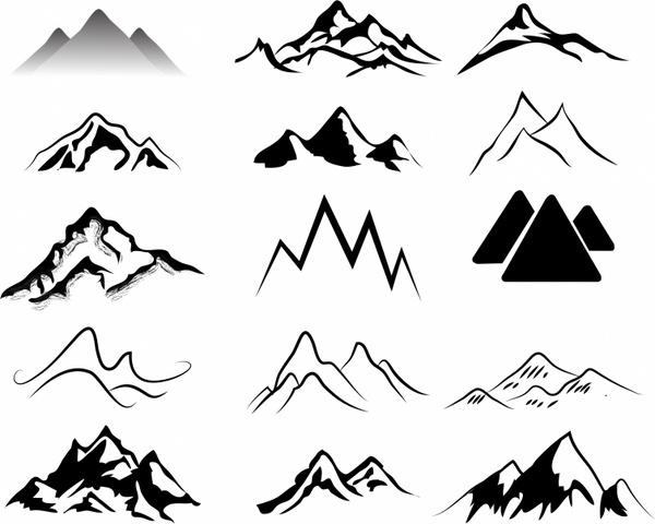 Mountain silhouette clipart free image freeuse Mountains Free vector in Adobe Illustrator ai ( .AI ... image freeuse