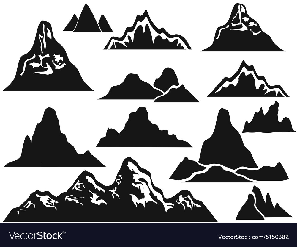 Mountain silhouette clipart free image free Mountain silhouettes image free
