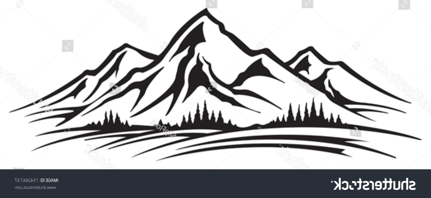 Mountain silhouette clipart free picture black and white library Unique Smoky Mountain Silhouette Vector File Free » Free ... picture black and white library