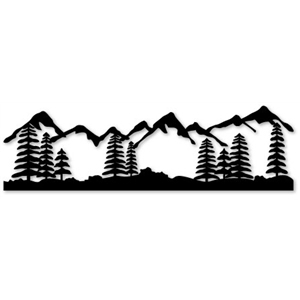 Mountain Scenery Clipart | Free Images at Clker.com - vector ... vector black and white stock