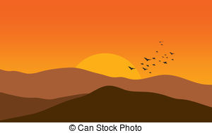 Mountain sunset clipart graphic free download Mountain sunset Clipart Vector and Illustration. 10,099 ... graphic free download
