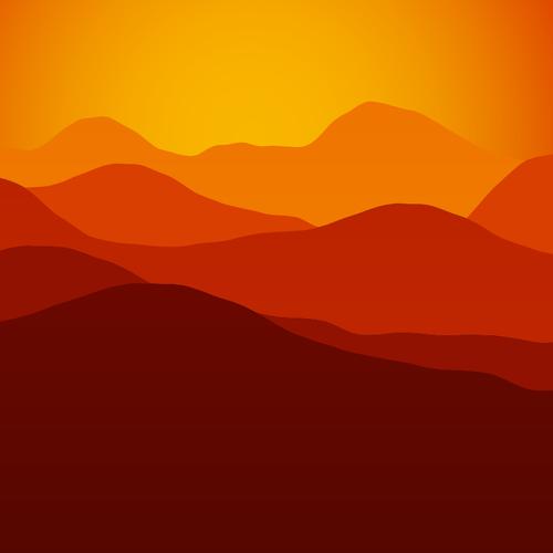 Mountain sunset clipart clip freeuse Mountains sunset | Public domain vectors clip freeuse