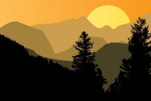 Mountain sunset clipart vector freeuse download Mountain sunset clipart 3 » Clipart Portal vector freeuse download