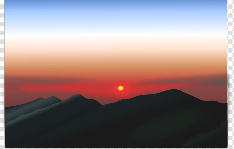 Mountain sunset clipart svg library Sunrise Mountain Sunset , mountain transparent background ... svg library
