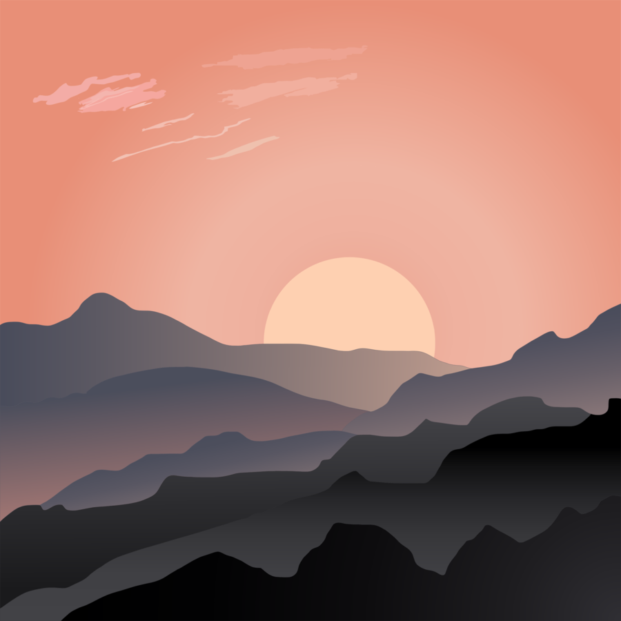 Mountain sunset clipart svg freeuse library Cloud Cartoon clipart - Sunset, Graphics, Landscape ... svg freeuse library