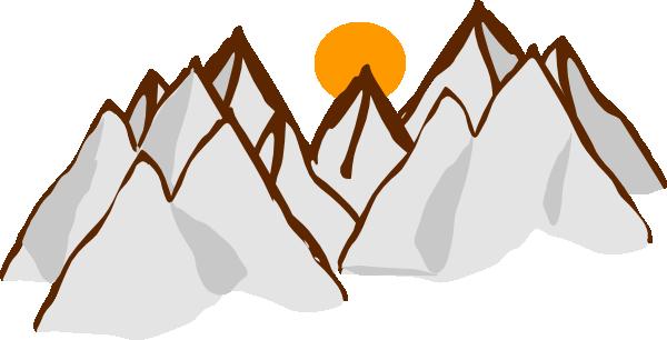 Mountain sunset clipart jpg transparent Mountain Range Sunset Clip Art at Clker.com - vector clip ... jpg transparent