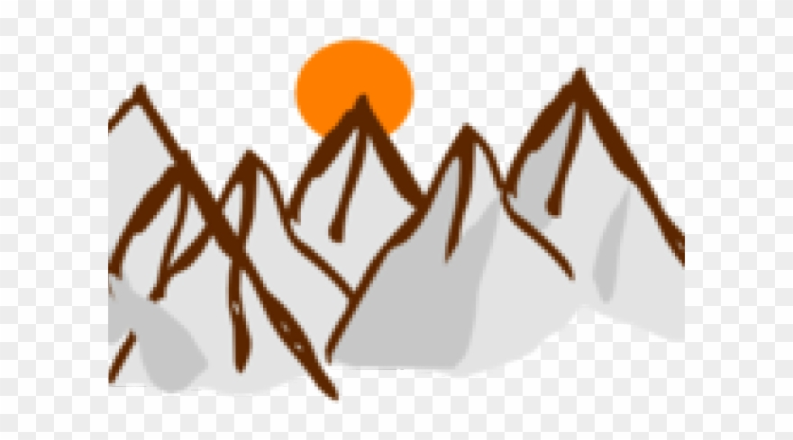 Mountain sunset clipart royalty free library Range Clipart Mountain Sunset - Mountain Range Cartoon - Png ... royalty free library