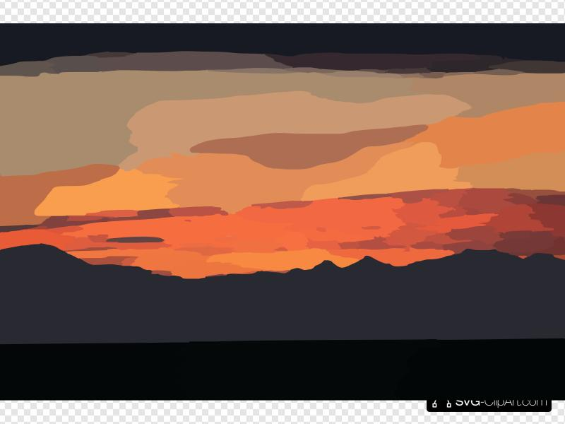 Mountain sunset clipart banner library download Sunset Clip art, Icon and SVG - SVG Clipart banner library download