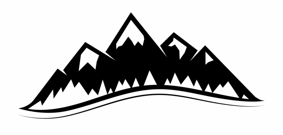 Mountain vector clipart vector Mountain Vector Drawing - Mountains Clipart Black And White ... vector