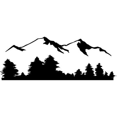 Mountain with trees and road clipart black and white freeuse library Free Mountain Tree Cliparts, Download Free Clip Art, Free ... freeuse library