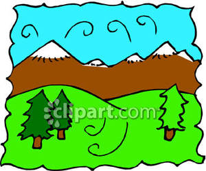 Mountains and hills clipart svg freeuse Rolling Hills with Mountains In the Background Royalty Free ... svg freeuse