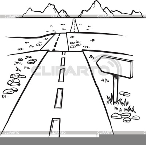 Mountains road clipart black and white svg black and white Road Clipart Black And White | Free Images at Clker.com ... svg black and white