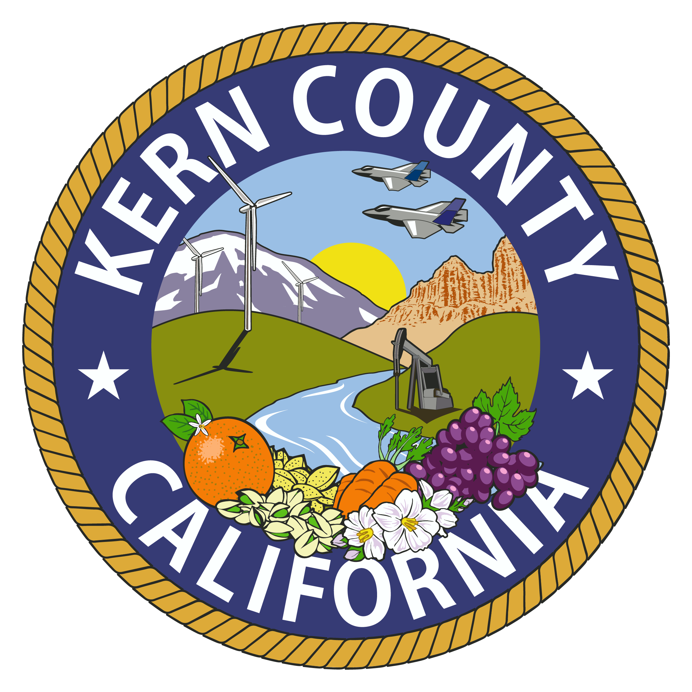 Mountains with crops and sun clipart clip royalty free stock File:Kern County Seal.png - Wikimedia Commons clip royalty free stock