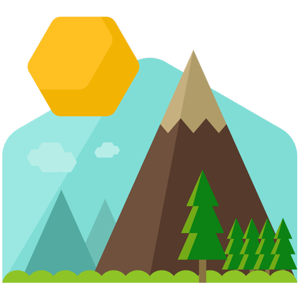 Mountains with crops and sun clipart banner Webinar | The Great eCourse Adventure banner