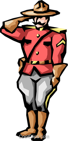 Mountie clipart graphic library Mounties Royalty Free Vector Clip Art illustration -peop1144 ... graphic library