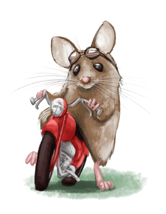 Mouse and the motorcycle clipart graphic black and white Ralph - the mouse and the motorcyle   Childhood in 2019 ... graphic black and white