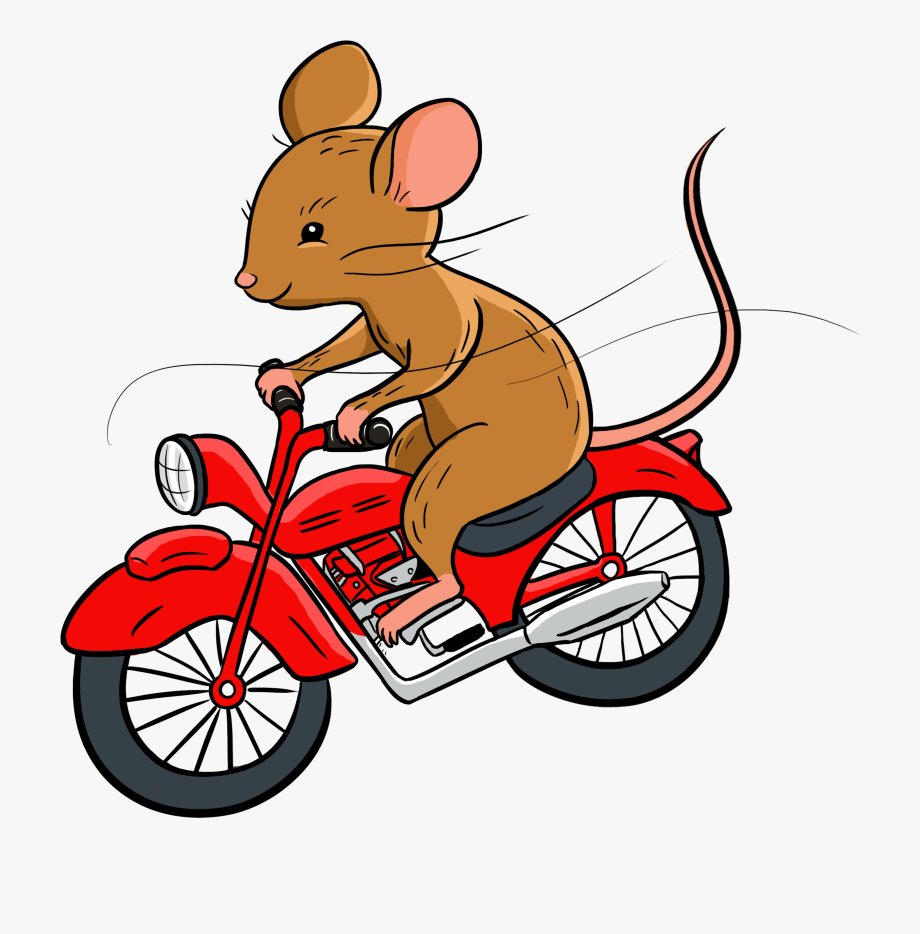 Mouse and the motorcycle clipart graphic free library Cartoon Mouse Riding A Motorcycle, Cliparts & Cartoons - Jing.fm graphic free library