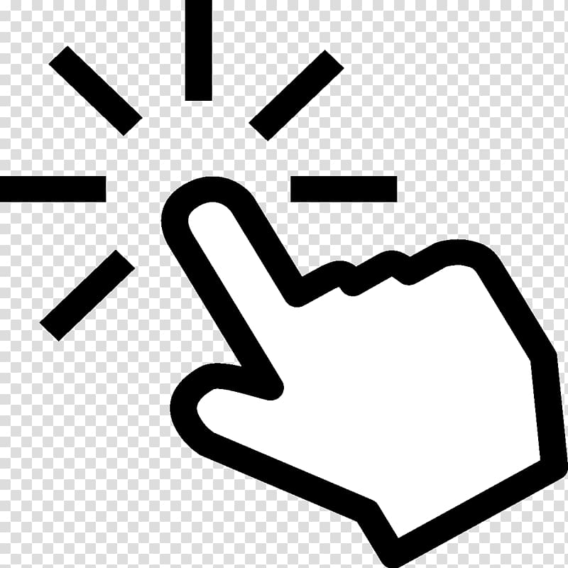 Mouse cursor clipart png library stock White pointing hand illustration, Computer mouse Pointer ... png library stock