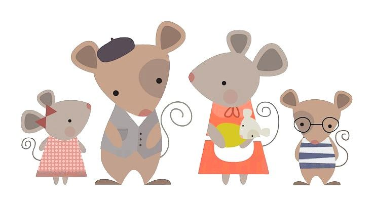 Mouse family clipart vector transparent library Mice family | speech therapy | Mouse illustration, Clip art ... vector transparent library