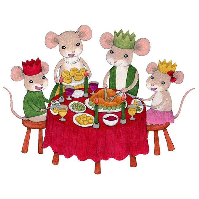Mouse family clipart clipart royalty free library Mouse Family Christmas - • • Akiko Kato Art • • clipart royalty free library