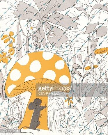 Mouse Hiding Under Mushroom premium clipart - ClipartLogo.com clip royalty free library