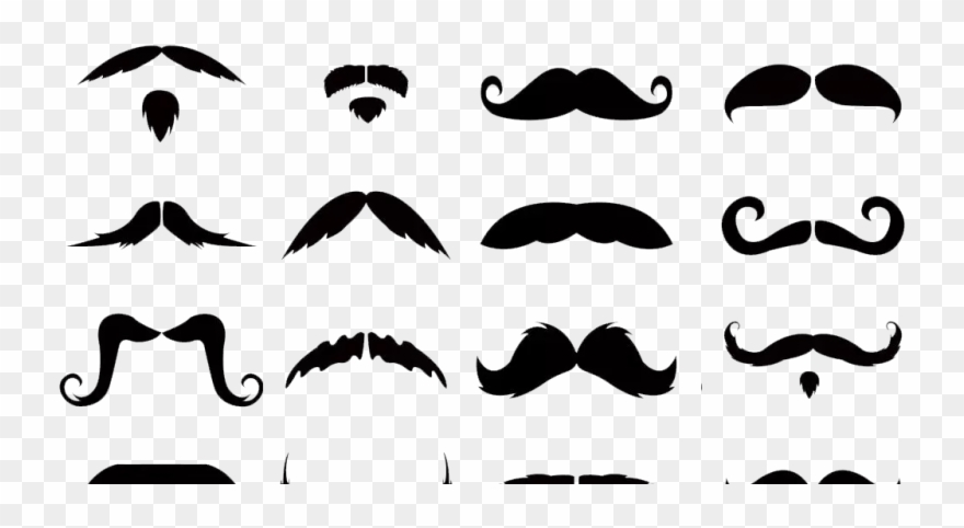 Moustache styles clipart banner library Mustaches Clip Art Transparent Background 20 Styles - Png ... banner library
