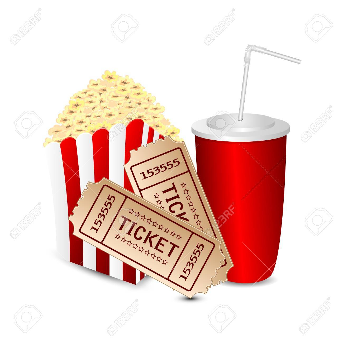 Movie and popcorn clipart svg library stock Movie tickets and popcorn clipart 3 » Clipart Portal svg library stock