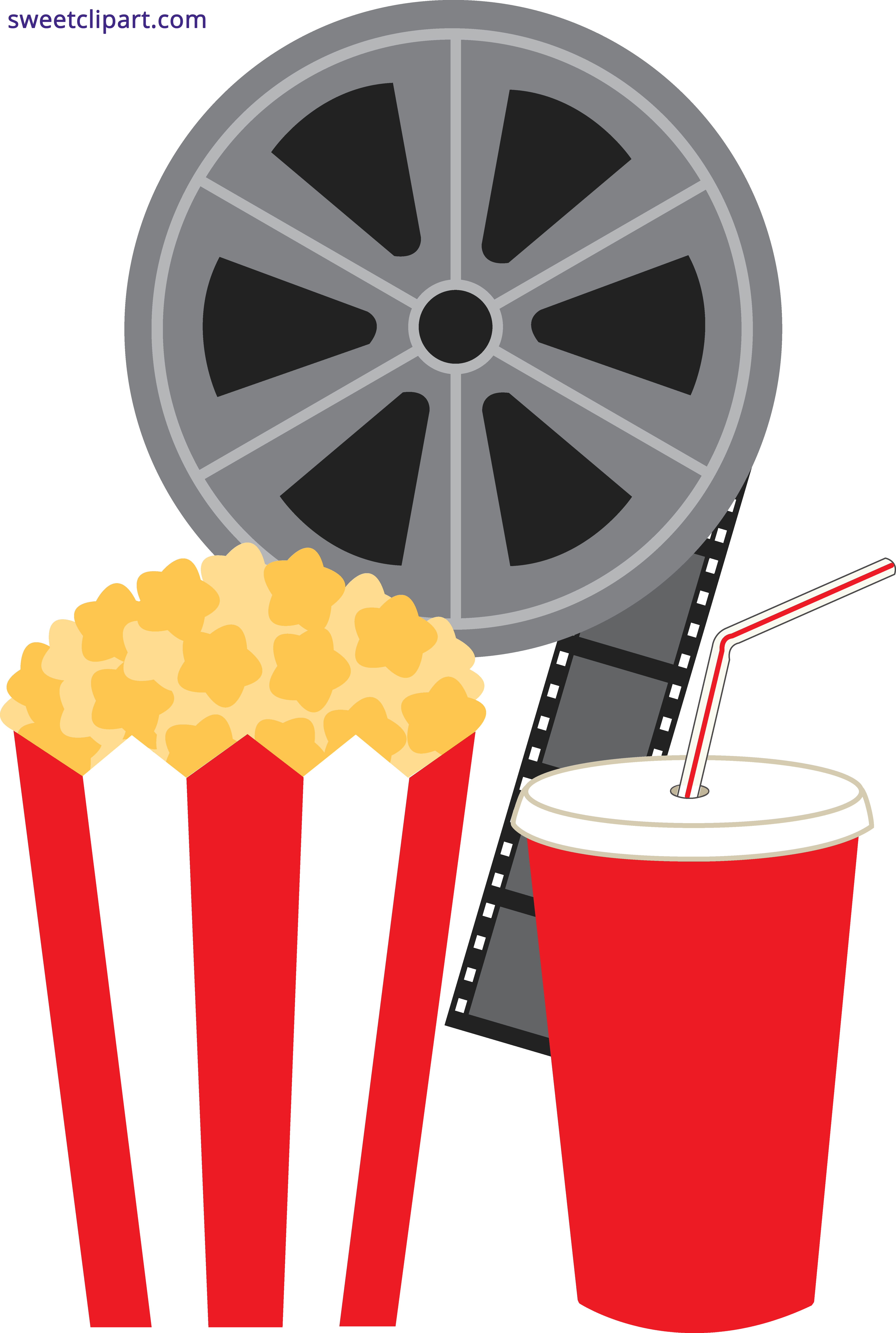 Popcorn Soda And Movie Clipart Transparent Png - AZPng clipart library library