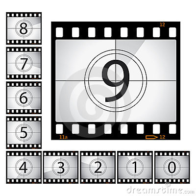 Movie countdown clip art png freeuse Film Countdown Royalty Free Stock Photo - Image: 28426475 png freeuse