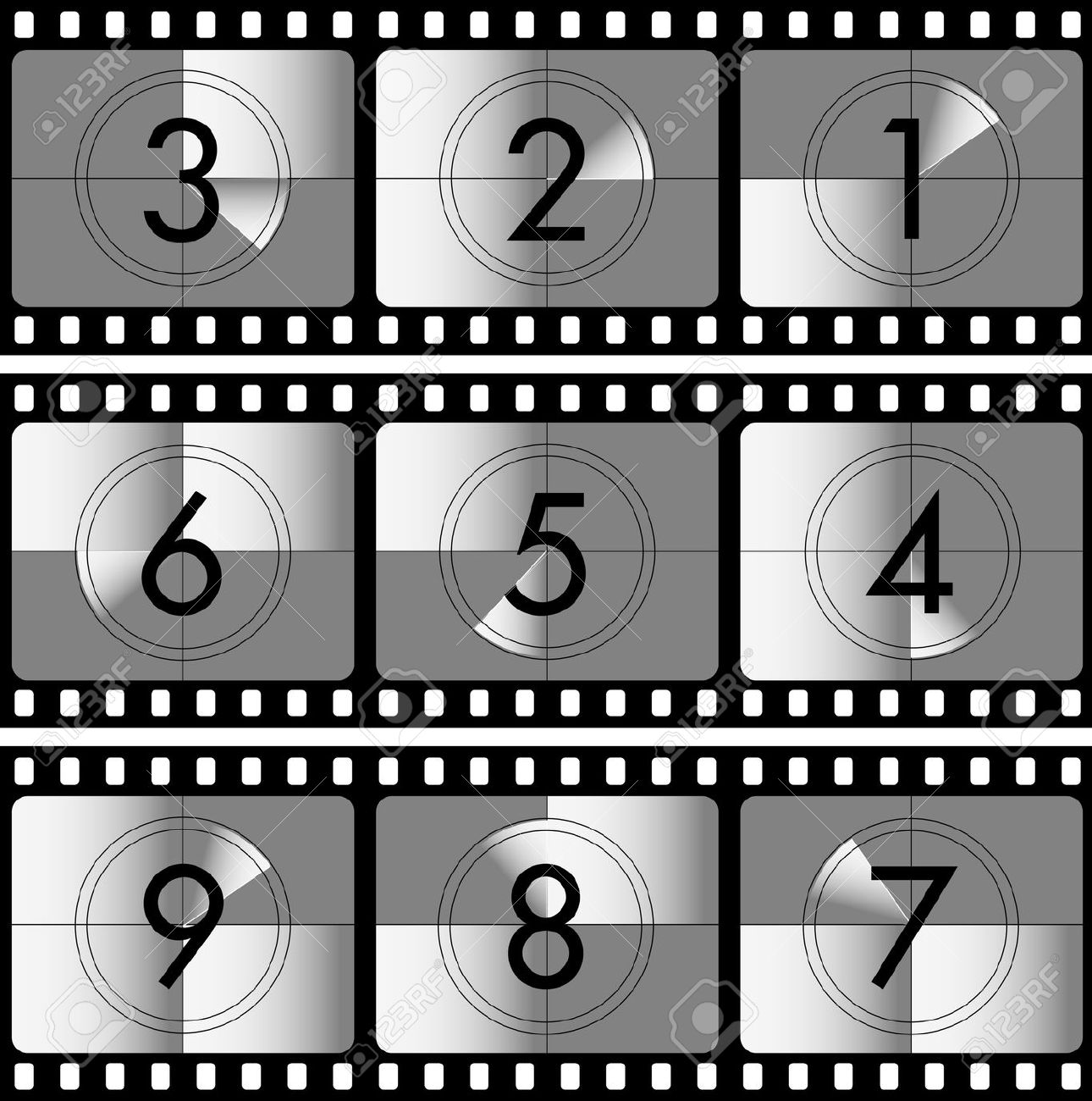Movie countdown clip art png royalty free library Vector Illustration Of The Movie Countdown Royalty Free Cliparts ... png royalty free library