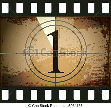 Movie countdown clip art clip art freeuse library Clipart Vector of Grunge film countdown csp8934135 - Search Clip ... clip art freeuse library