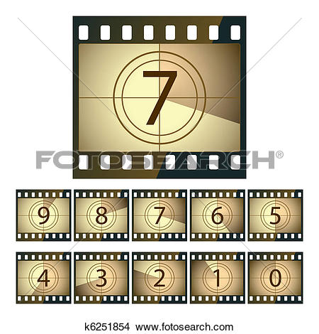 Movie countdown clip art picture royalty free library Clipart of Film countdown k6251854 - Search Clip Art, Illustration ... picture royalty free library