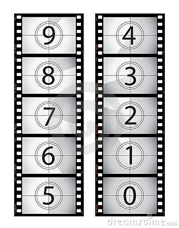 Movie countdown clip art graphic free stock Film Countdown Stock Image - Image: 13068211 graphic free stock