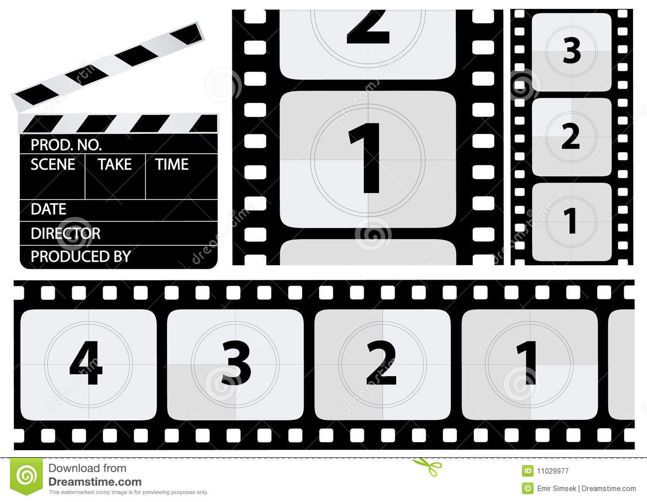 Movie countdown clip art picture Vector Film Countdown Royalty Free Stock Photography - Image: 11029977 picture