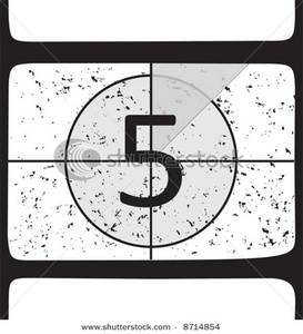 Movie countdown clip art clip art royalty free Image: Film Countdown At Number 5 clip art royalty free
