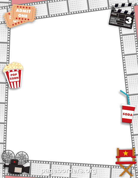 Movie film border clipart image library download Movie Border: Clip Art, Page Border, and Vector Graphics image library download