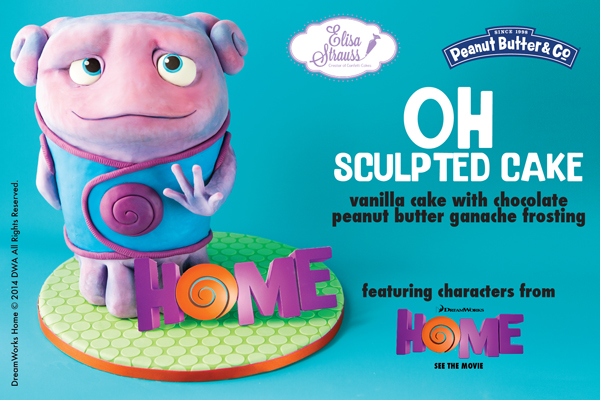 Movie home character clipart clipart transparent download Oh Sculpted Character Cake from DreamWorks' Movie HOME clipart transparent download