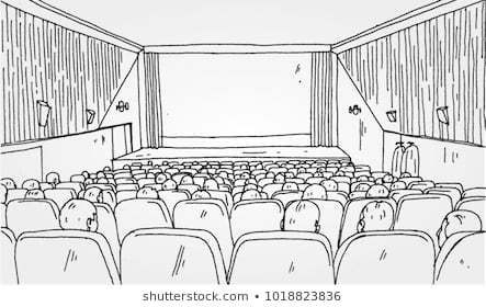 Movie theater clipart black and white vector transparent library Movie theatre clipart black and white 5 » Clipart Portal vector transparent library