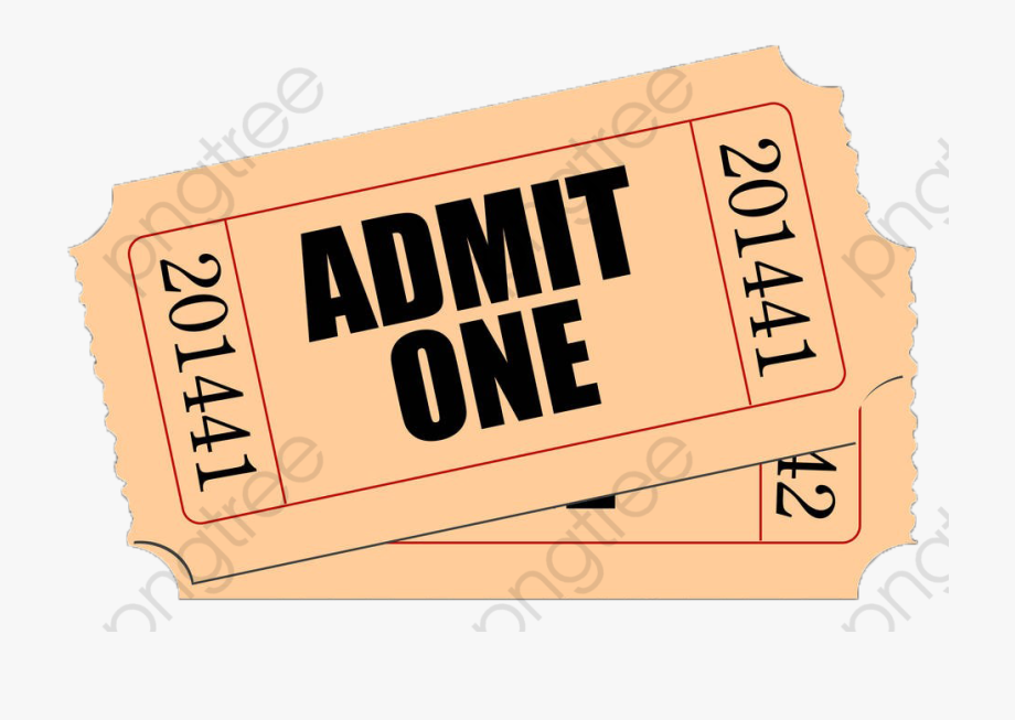 Movie ticket clipart clip freeuse Yellow Movie Ticket - Movie Ticket Clipart Png #40132 - Free ... clip freeuse