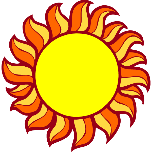 Rising sun clipart image library stock Animated Sun (50+) image library stock