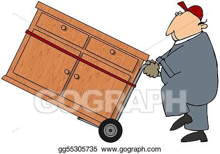 Moving man clipart svg transparent stock Clipart - Moving man. Stock Illustration gg55305735 - GoGraph svg transparent stock