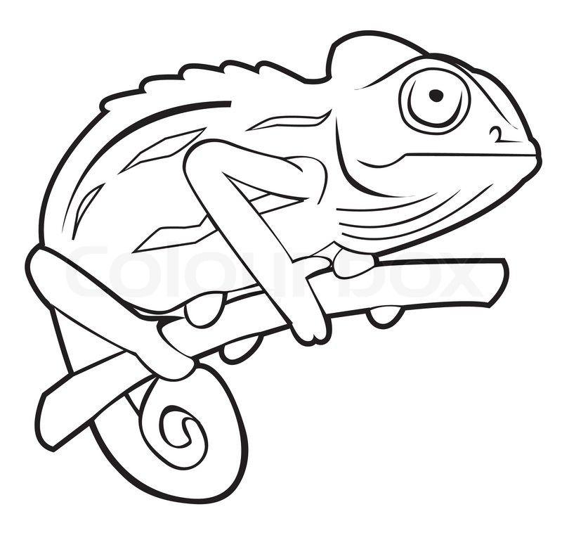 Chameleon clipart chameleon outline, Chameleon chameleon outline ... clipart royalty free library