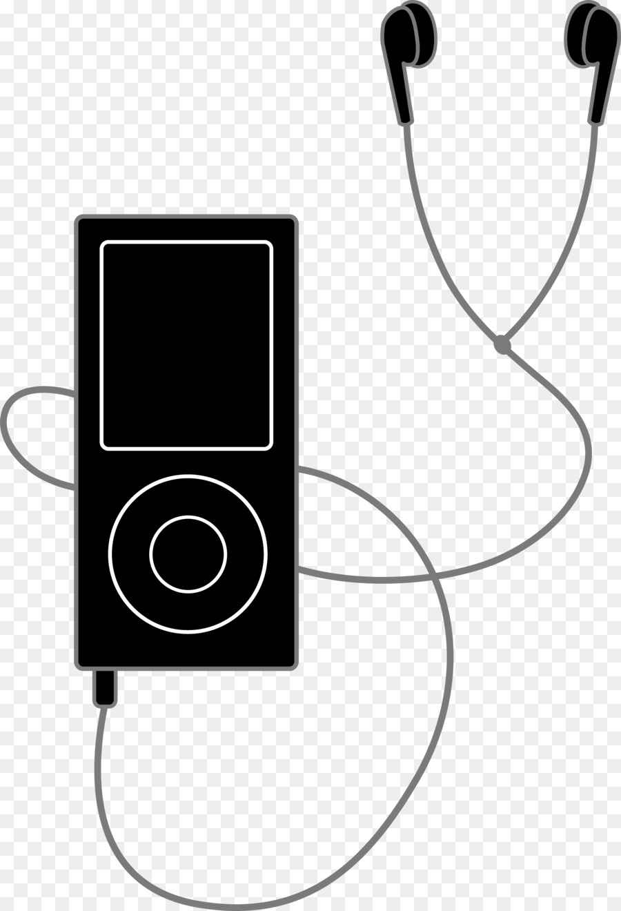 Mp3 clipart vector free Black Line Background clipart - Black, Technology, Product ... vector free