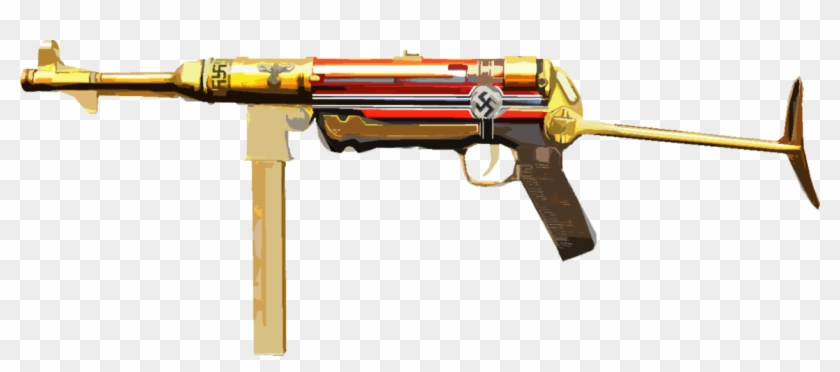 Mp40 clipart graphic freeuse stock This Is Hermann Fegelein\'s Mp40 - Mp40 Ww2 Gold, HD Png Download ... graphic freeuse stock