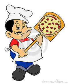Mr chef clipart jpg black and white download mr chef images | Illustration Of Chef with pizza. | images to ... jpg black and white download