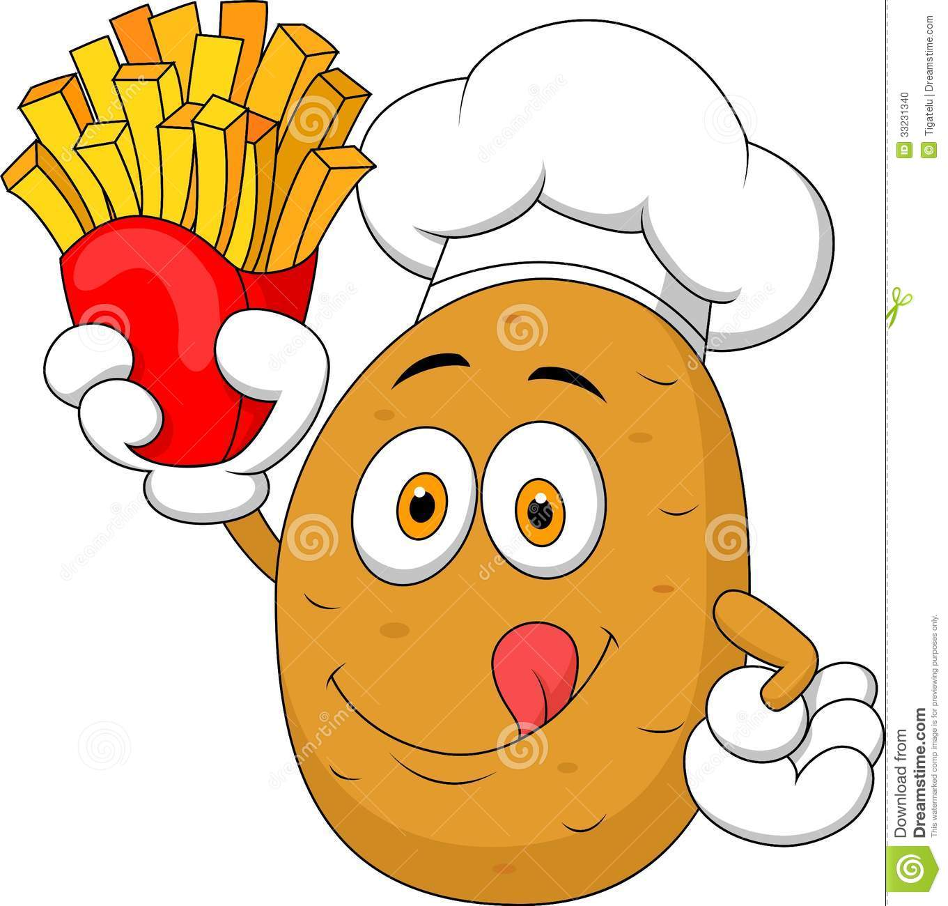 Mr chef head clipart png Potato Chef Cartoon Holding Up A French Fries Stock Photo - Image ... png