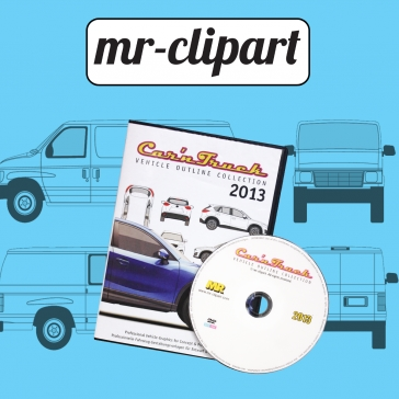 Mr clipart car n truck collection black and white library CutterPros.com black and white library