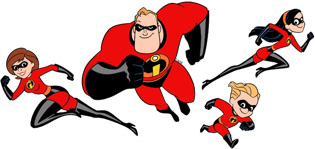 The Incredibles Clip Art | Disney Clip Art Galore banner black and white library